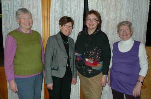 Kjekke damer fra Stor-Elvdal Hagelag. Foredrag på Koppang februar 2011.