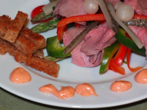 Skogsgudens salat. Foto Kirsten Winge