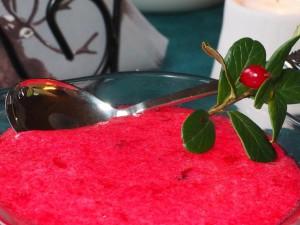 Tyttebær med en snert av gin. Foto Kirsten Winge
