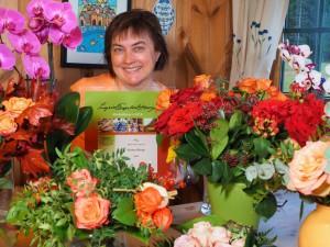 Blomster i anledning Ingrid Espelid Hovigs matkulturpris. Foto Arne Nohr